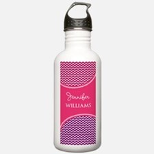 Purple and Pink Chevro Water Bottle
