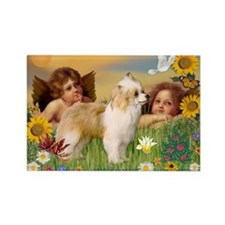 Angels/Puff Crested Rectangle Magnet