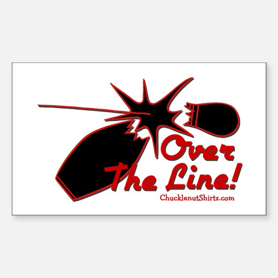 OVER THE LINE Rectangle Bumper Stickers