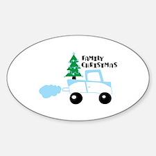Christmas tree family christmas Decal