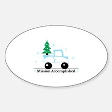 Mission accomplished tree on truck Decal