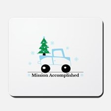 Mission accomplished tree on truck Mousepad