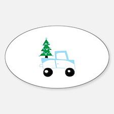 Christmas tree on car Decal