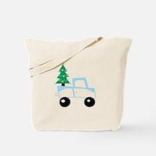 Christmas tree on car Tote Bag