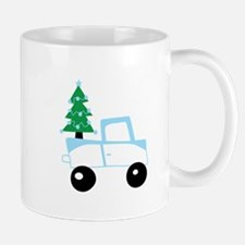 Christmas tree on car Mugs