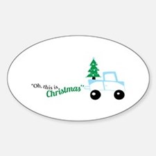 Christmas tree on truck car Decal