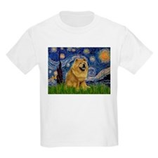 Starry Night & Chow Chow T-Shirt