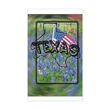 Texas Patriotism Rectangle Decal