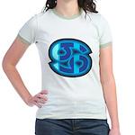 Cancer Symbol Jr. Ringer T-shirt