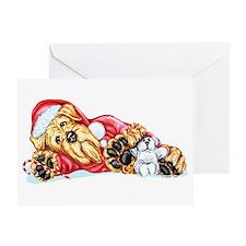 Airedale Christmas Santa Greeting Card