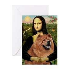 Mona & Her Chow Chow Greeting Card