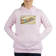 Vintage Map of Suffolk N Women's Hooded Sweatshirt