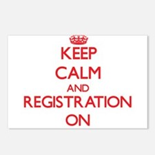Keep Calm and Registratio Postcards (Package of 8)