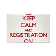 Keep Calm and Registration ON Magnets
