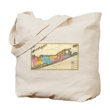 Vintage Map of Suffolk New York (1829) Tote Bag