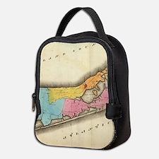 Vintage Map of Suffolk New York Neoprene Lunch Bag