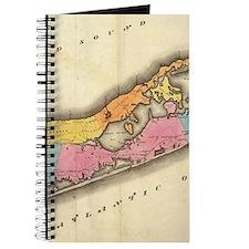 Vintage Map of Suffolk New York (1829) Journal