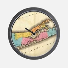 Vintage Map of Suffolk New York (1829) Wall Clock