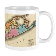 Vintage Map of Suffolk New York (1829) Mugs