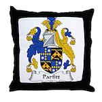 Parfitt Family Crest Throw Pillow