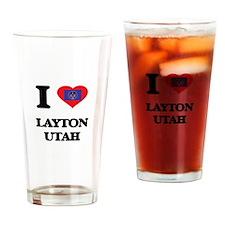 I love Layton Utah Drinking Glass