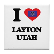 I love Layton Utah Tile Coaster
