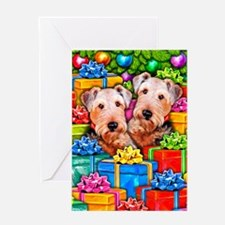 Airedale Terrier Christmas Greeting Card