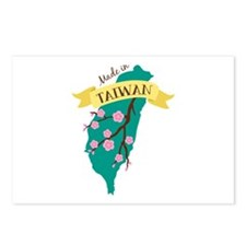 Taiwan Country Map Made in Plum Blossom Flower Pos