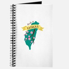 Taiwan Country Map Made in Plum Blossom Flower Jou