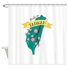 Taiwan Country Map Made in Plum Blossom Flower Sho