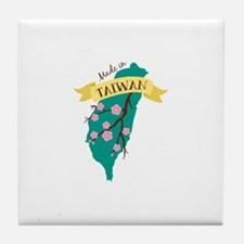 Taiwan Country Map Made in Plum Blossom Flower Til
