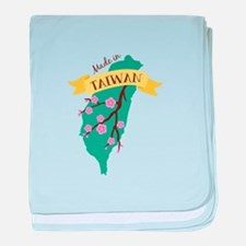 Taiwan Country Map Made in Plum Blossom Flower bab