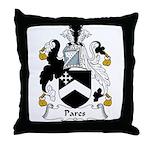 Pares Family Crest Throw Pillow