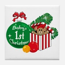 Baby's 1st Christmas Tile Coaster