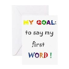 My Goals..... Greeting Card