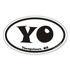 Youngstown Ohio YO Euro Oval Decal