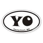 Youngstown Ohio YO Euro Oval Sticker