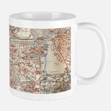 Vintage Map of Stuttgart Germany (1909) Mugs