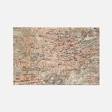 Vintage Map of Stuttgart Germany (1909) Magnets