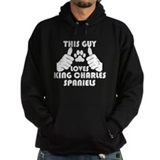 This Guy Loves King Charles Spaniels Hoodie