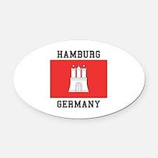 Hamburg Germany Oval Car Magnet