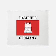 Hamburg Germany Throw Blanket