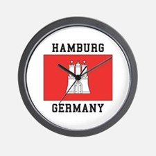 Hamburg Germany Wall Clock