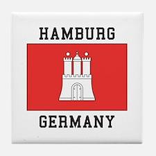 Hamburg Germany Tile Coaster