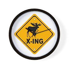 Moose X-ing Wall Clock
