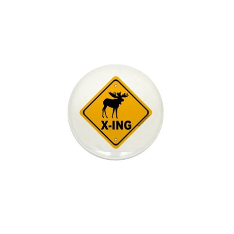 Moose X-ing Mini Button (100 pack)