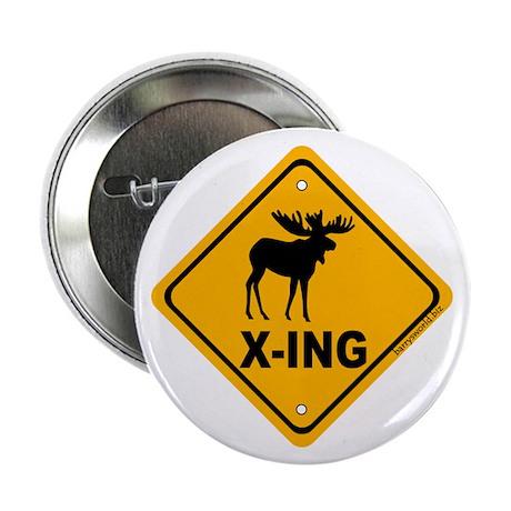 """Moose X-ing 2.25"""" Button (10 pack)"""