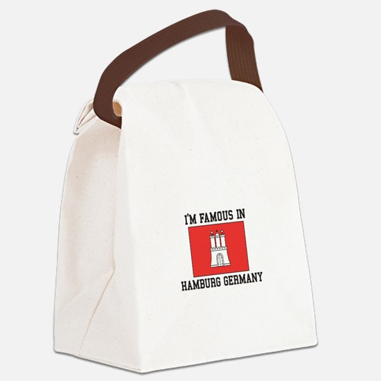 Famous In Hamburg Canvas Lunch Bag