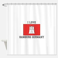 I Love Hamburg Shower Curtain
