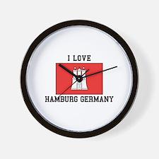 I Love Hamburg Wall Clock